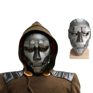 XCOSER Dr Doom Mask Movie Fantastic Four Cosplay