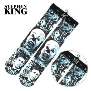 "OHCOMICS Hot Film Horror Movie Stephen King's It Clown Cotton Knee-high Stockings 4*16"" Socks Tight Hose Costume Collection Gift"