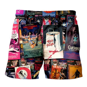 80s Horror VHS Explosion collage Long sleeve pullover/socks/leggings/shirts (SEE ALL)