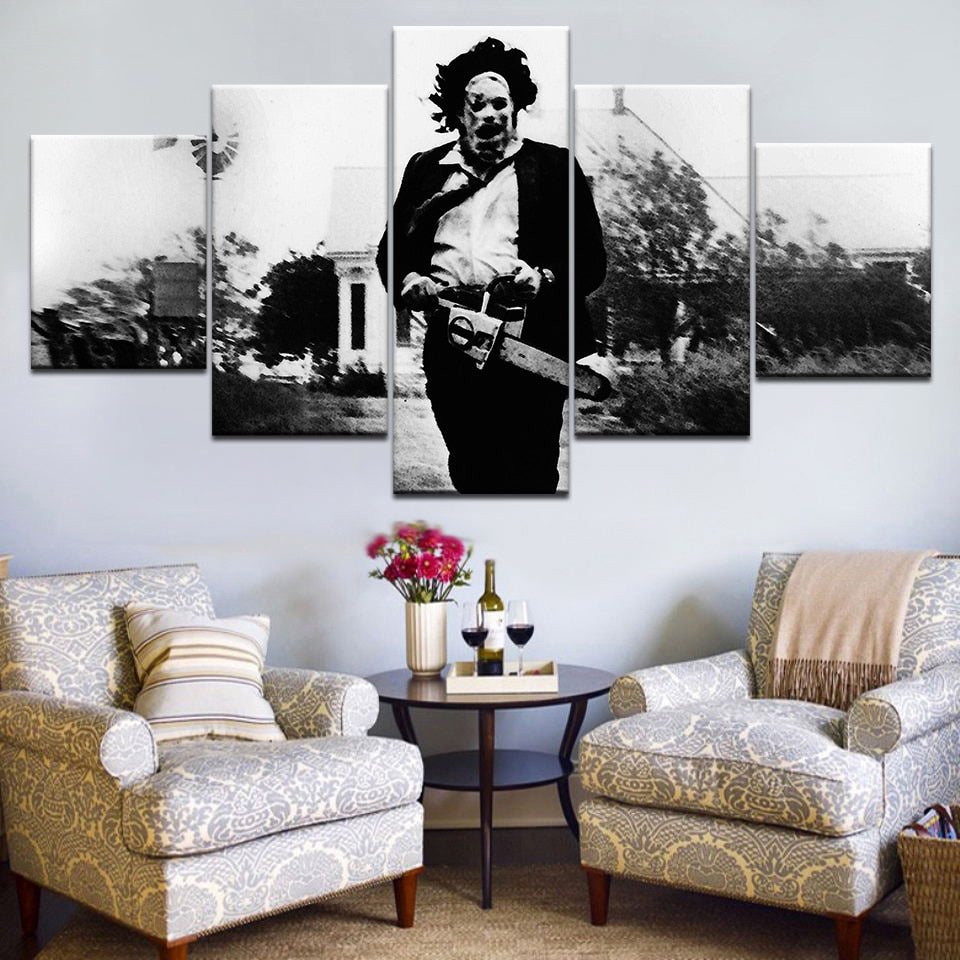 5 pieces horror print LEATHERFACE TEXASCHAINSAW MASSACRE