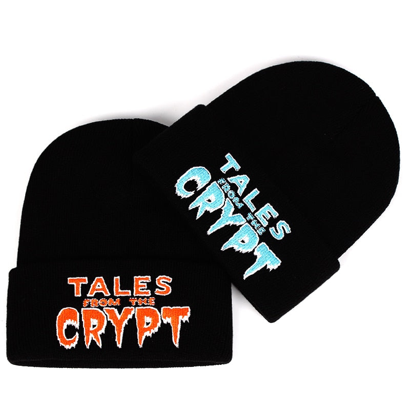 Tales From The Crypt Knitted Beanie (orange sold out, only blue left)