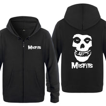 Load image into Gallery viewer, The MISFITS Punk Rock Music Sweatshirts Men 2018 Mens Zipper up