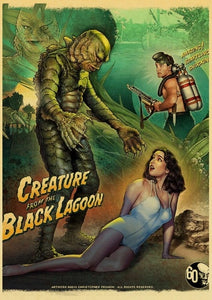 Horror Movie Creature from the black lagoon Retro Posters