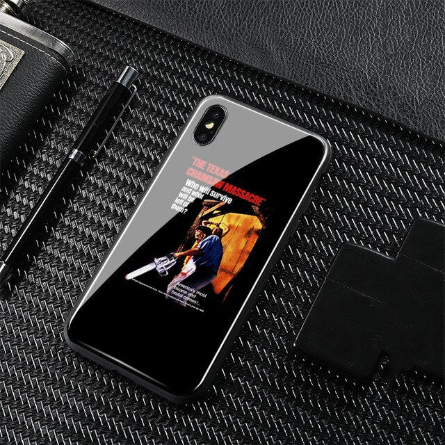 1974 texas chainsaw massacre Tempered Glass Soft Silicone Phone Case Shell Cover For Apple iPhone 6 6s 7 8 Plus X XR XS MAX
