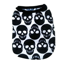 Load image into Gallery viewer, Skull print dog shirts