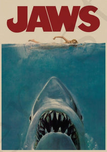 Jaws Shark Horror Film Movie Vintage Retro Posters