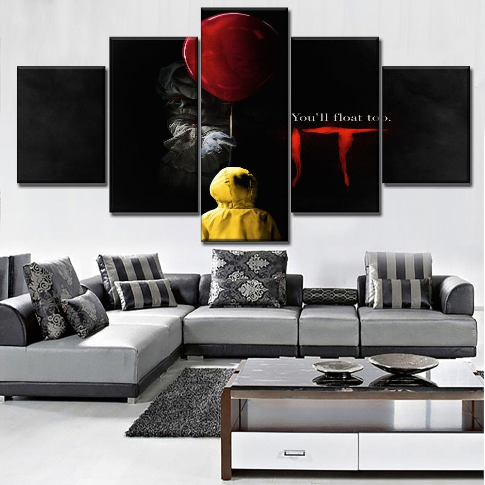 5 Panel canvas It /Pennywise