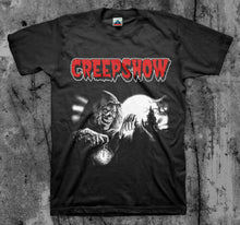 Load image into Gallery viewer, CREEPSHOW- 'Crypt Keeper' - Movie T Shirt (Classic 80's Cult Comedy Horror)