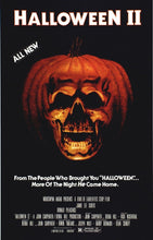 Load image into Gallery viewer, HALLOWEEN II 2 Movie Poster Horror Michael Myers Slasher SILK POSTER
