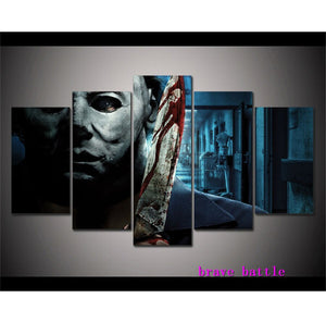 Halloween Michael Myers  Canvas Painting Living Room Home Decor Modern Mural Art Oil Painting