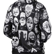 Load image into Gallery viewer, horror movie character collage hoodie