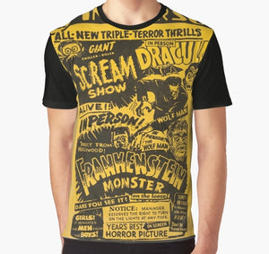 All Over Print  T Shirt Horror Movie Retro Spookshow - Scream Show Full Print