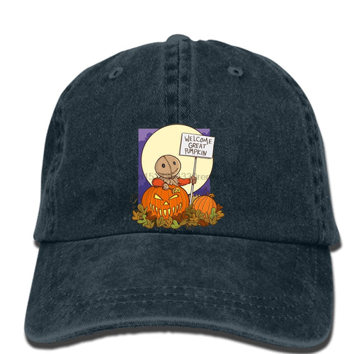 Sam Welcomes The Great Pumpkin Trick R Treat hat (32 STYLES)