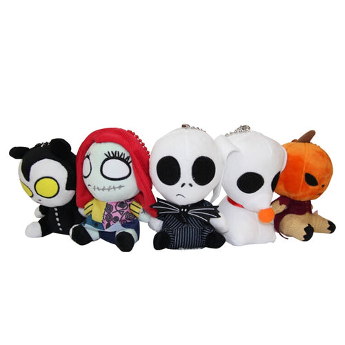 16cm The Nightmare Before Christmas Plush Toys Pendant Keychains Soft Stuffed