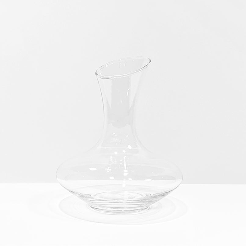 Aerisi Wine Aerator Glass Decanter clear on white backgroundnto it on white background