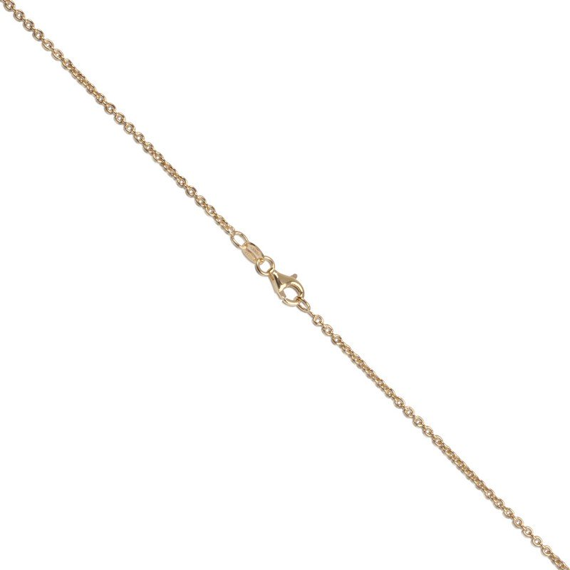 Gold Layered Italian Sterling Silver 1.8mm Cable Chain