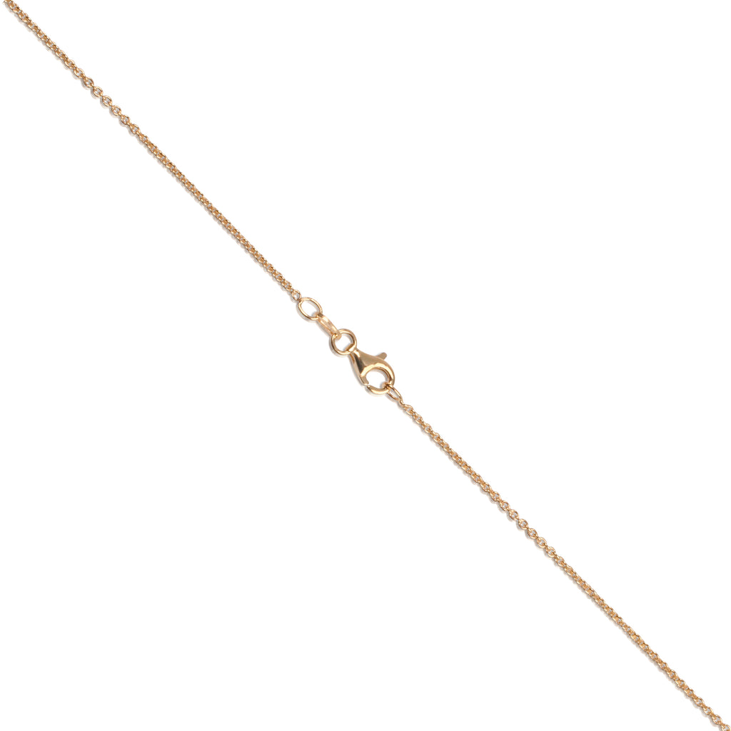 Gold Layered Italian Sterling Silver 1.4mm Cable Chain