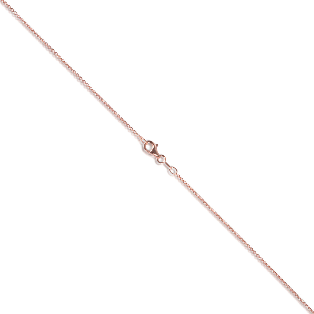Rose Gold Layered Italian Sterling Silver 1.4mm Cable Chain