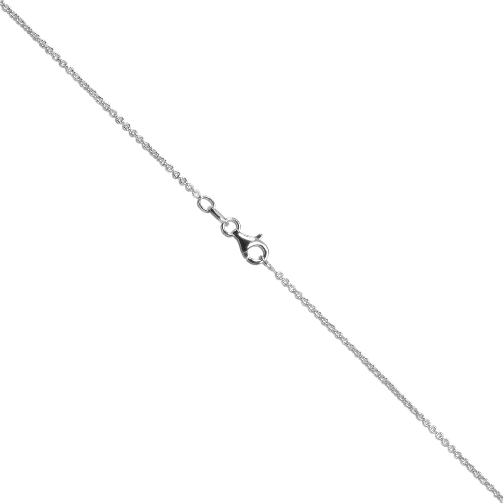 Italian Sterling Silver 1.4mm Rhodium Enhanced Cable Chain