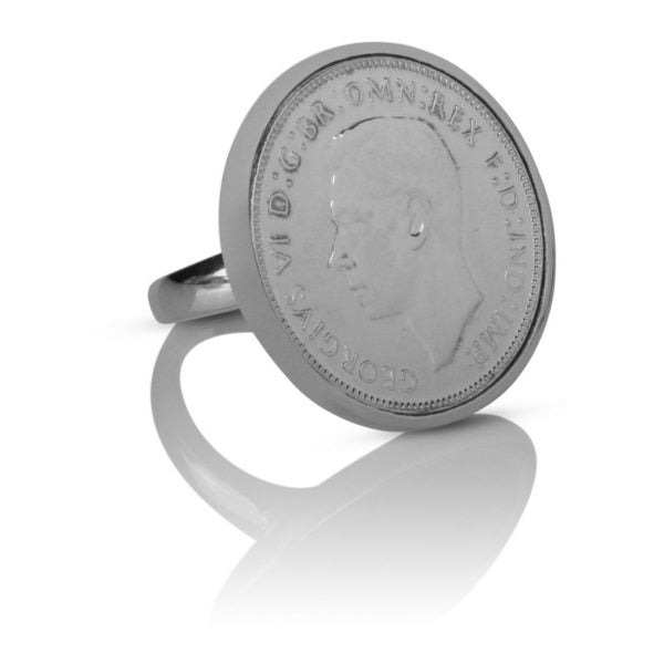 King George VI Australian Florin Coin Ring