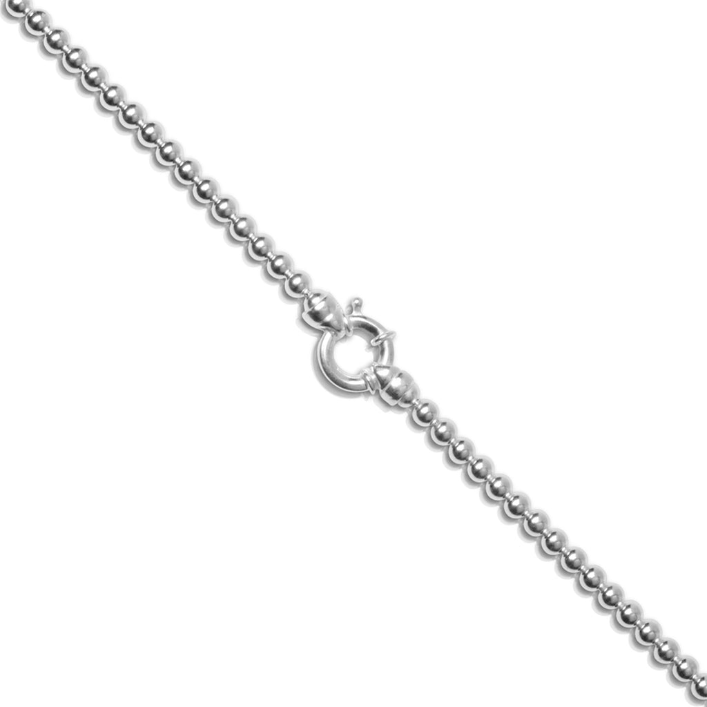 Petite 5mm Italian Sterling Silver Ball Necklace