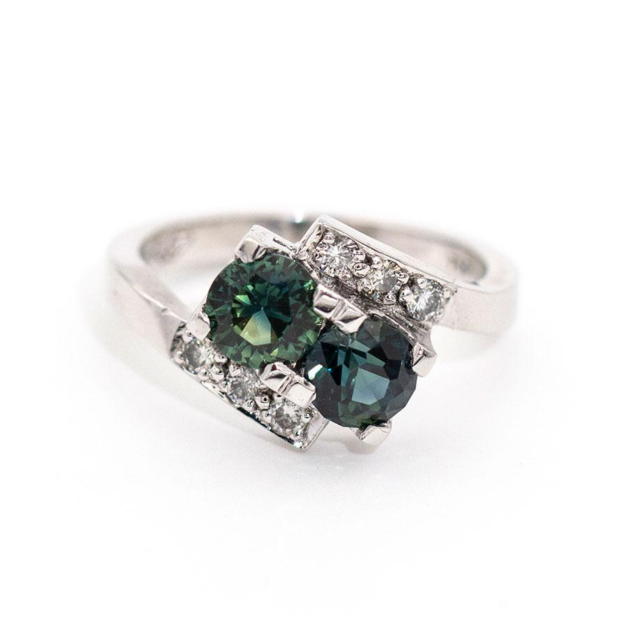 Alannah Sapphire & Diamond Ring Rings Imperial Jewellery - Auctions, Antique, Vintage & Estate