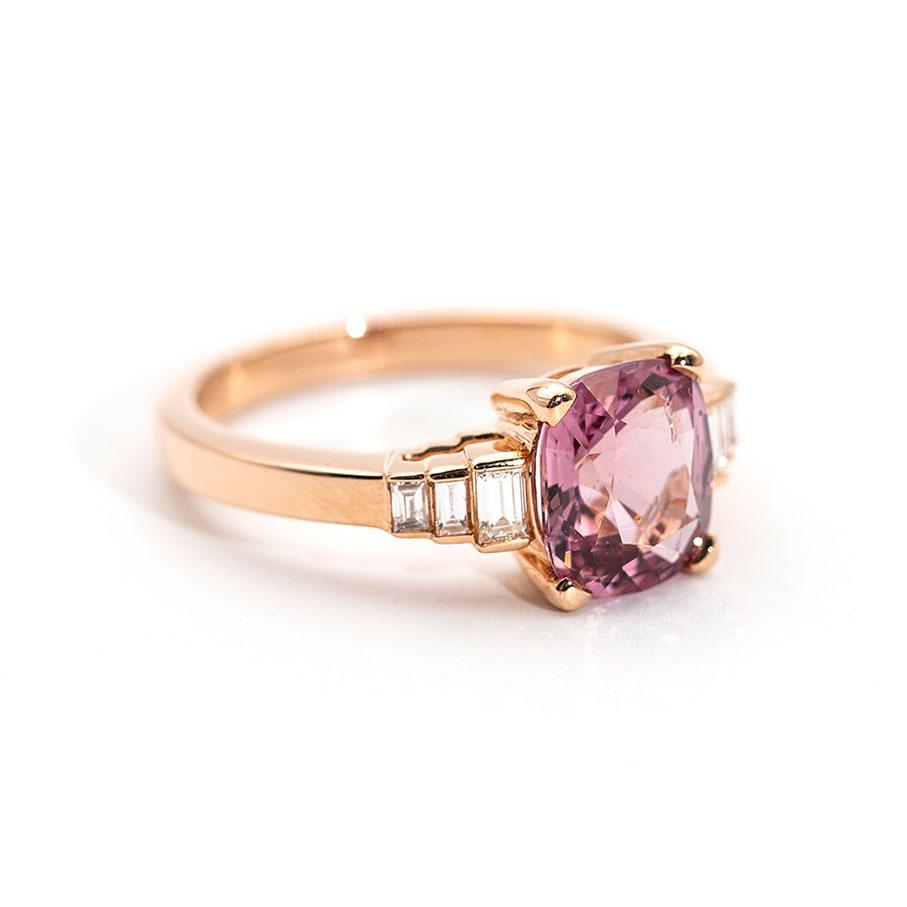 Angelina Pink Spinel and Diamond Ring