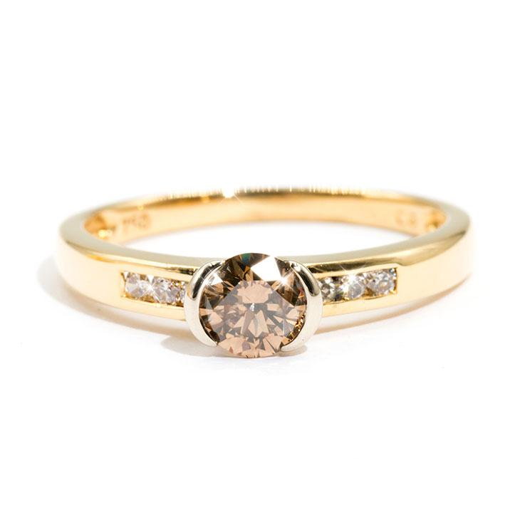 Champagne-Diamond-Engagement-Ring-Amanda-IJ-0321-465 Imperial Jewellery - Auctions, Antique, Vintage & Estate
