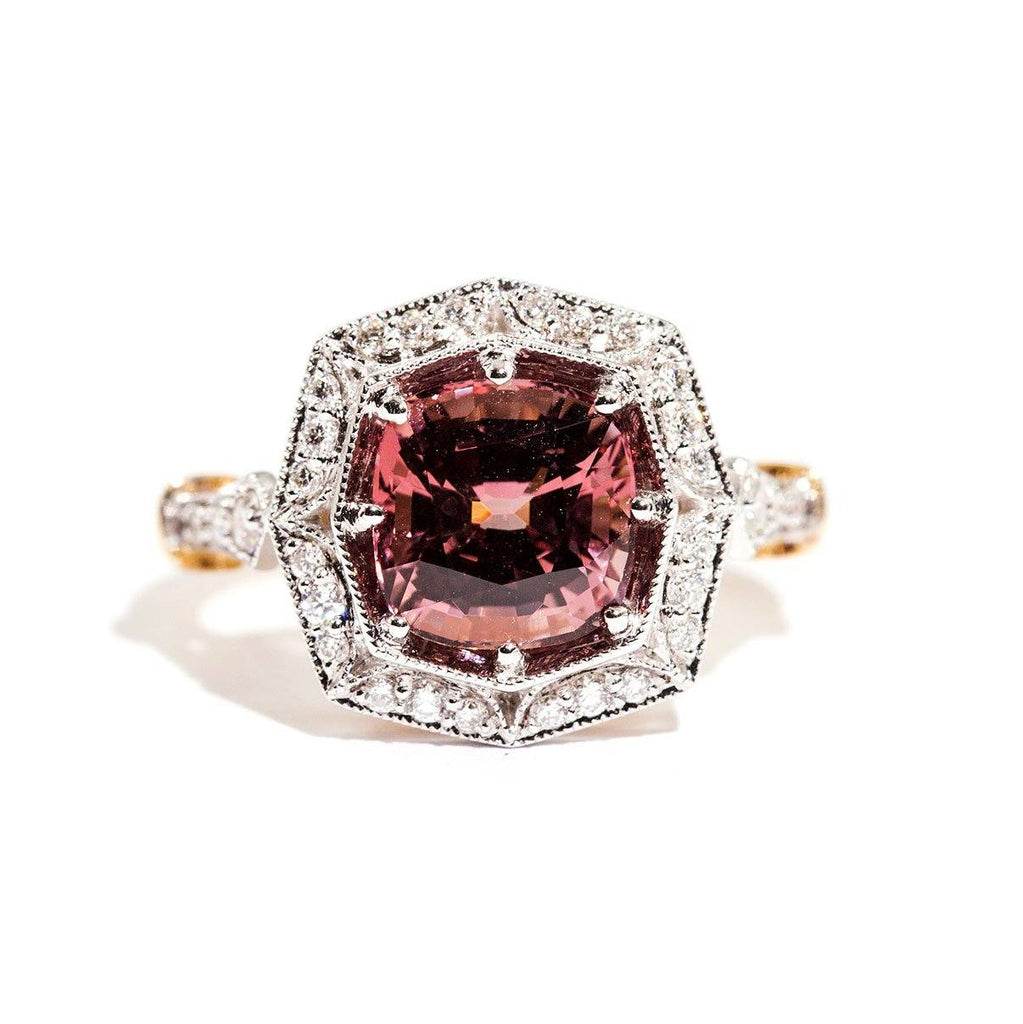 Cierra Spinel & Diamond Ring Ring Imperial Jewellery - Auctions, Antique, Vintage & Estate