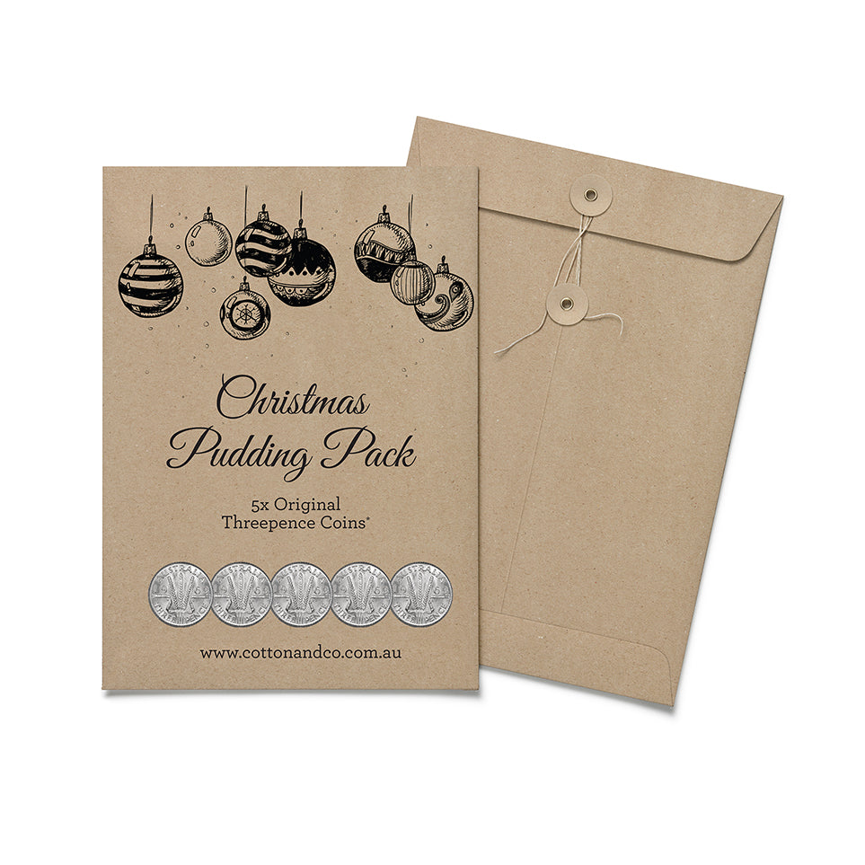 Threepence Coin Christmas Pudding Pack