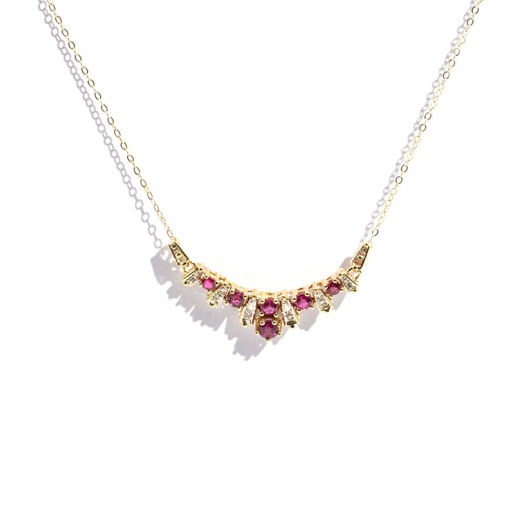 Diana Ruby & Diamond Necklet