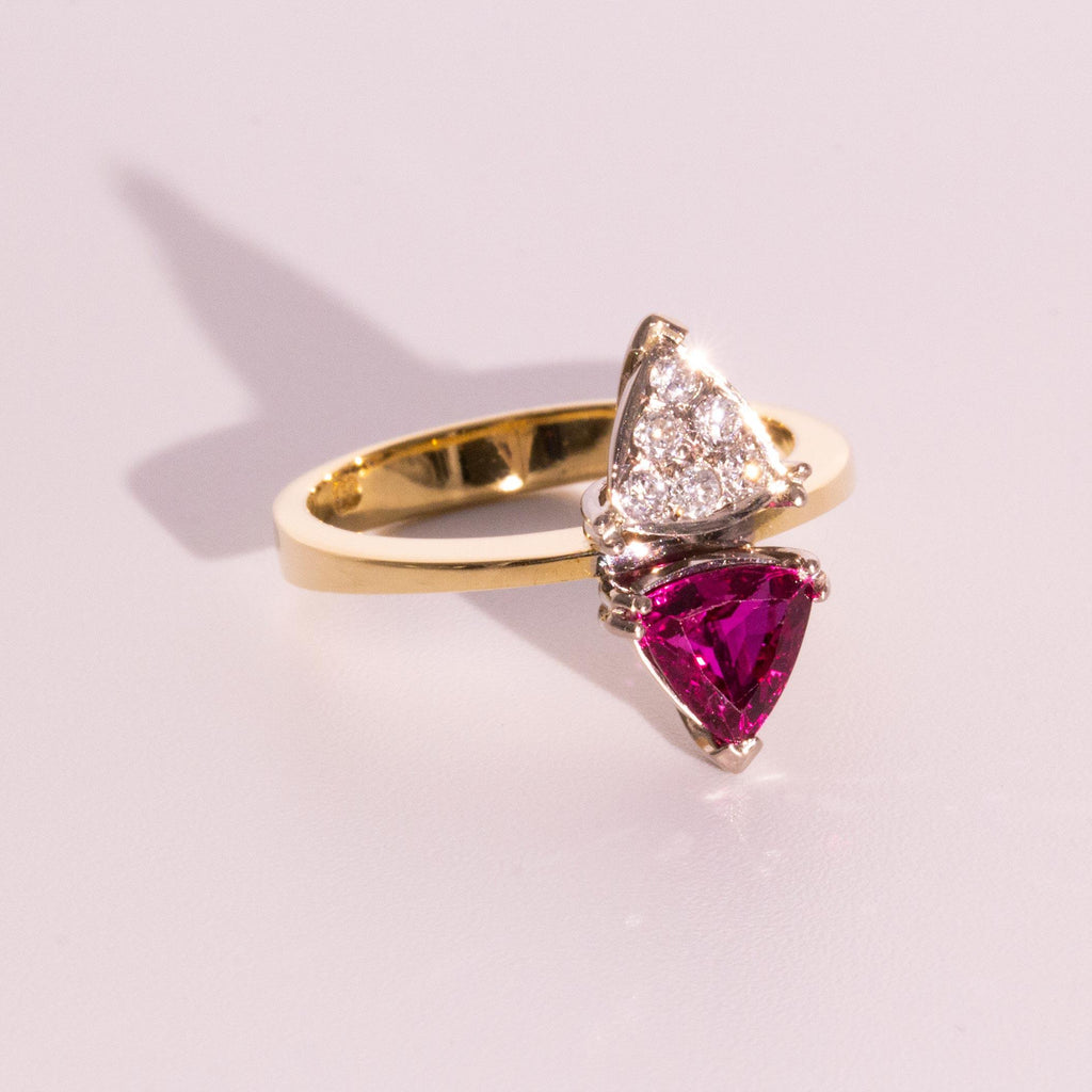 Ruby and Diamond Ring Vintage