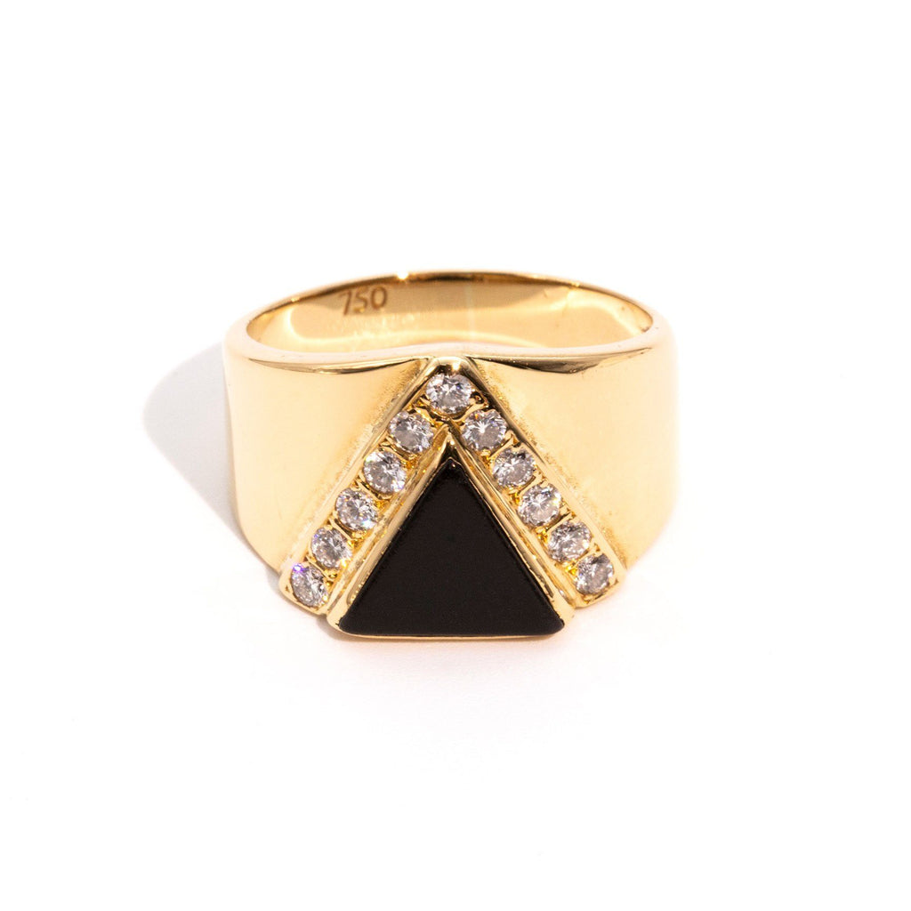 Everleigh Art Deco Onyx & Diamond Ring