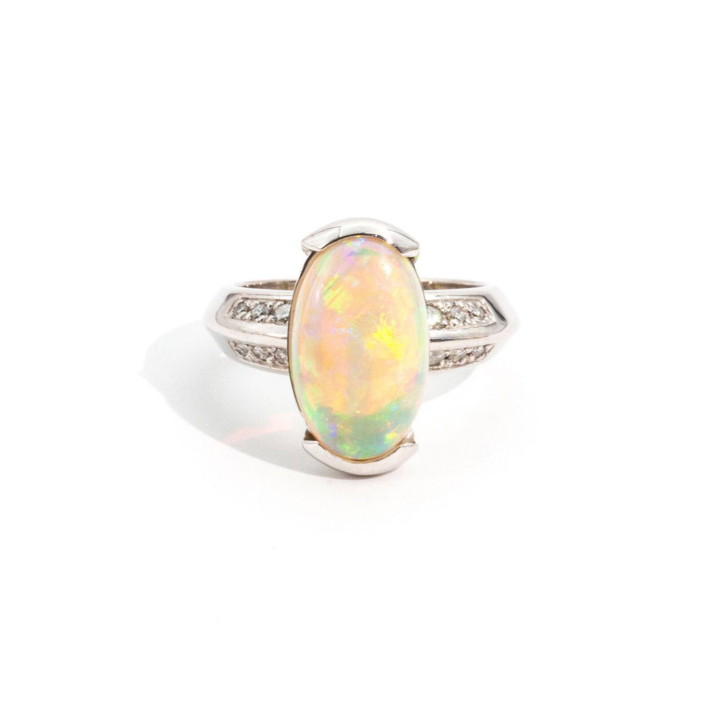 Harmony Opal & Diamond Ring