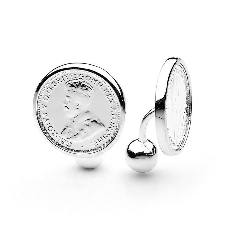 King George V Australian Sixpence Coin Cuff Links