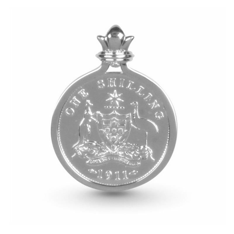 Australian Coat of Arms Shilling Coin Sterling Pendant