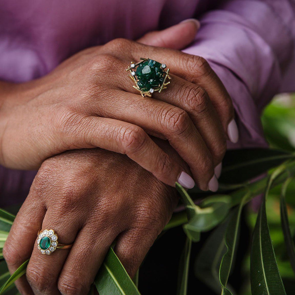 Juniper Emerald & Diamond Ring
