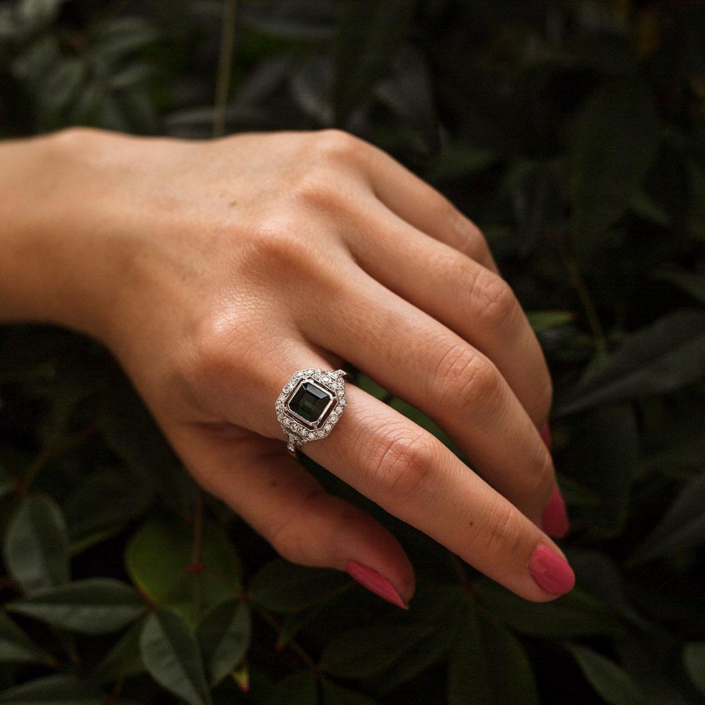 Katalina Toumaline & Diamond Ring Ring Imperial Jewellery - Auctions, Antique, Vintage & Estate