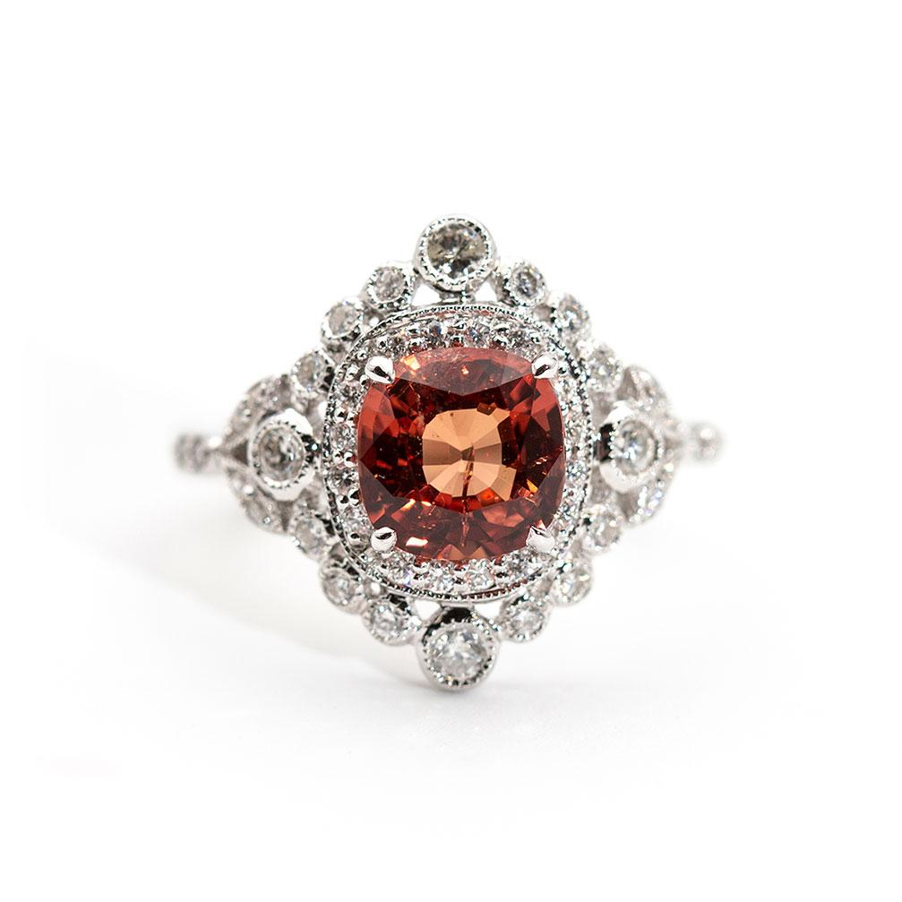 Leia Spinel and Diamond Ring