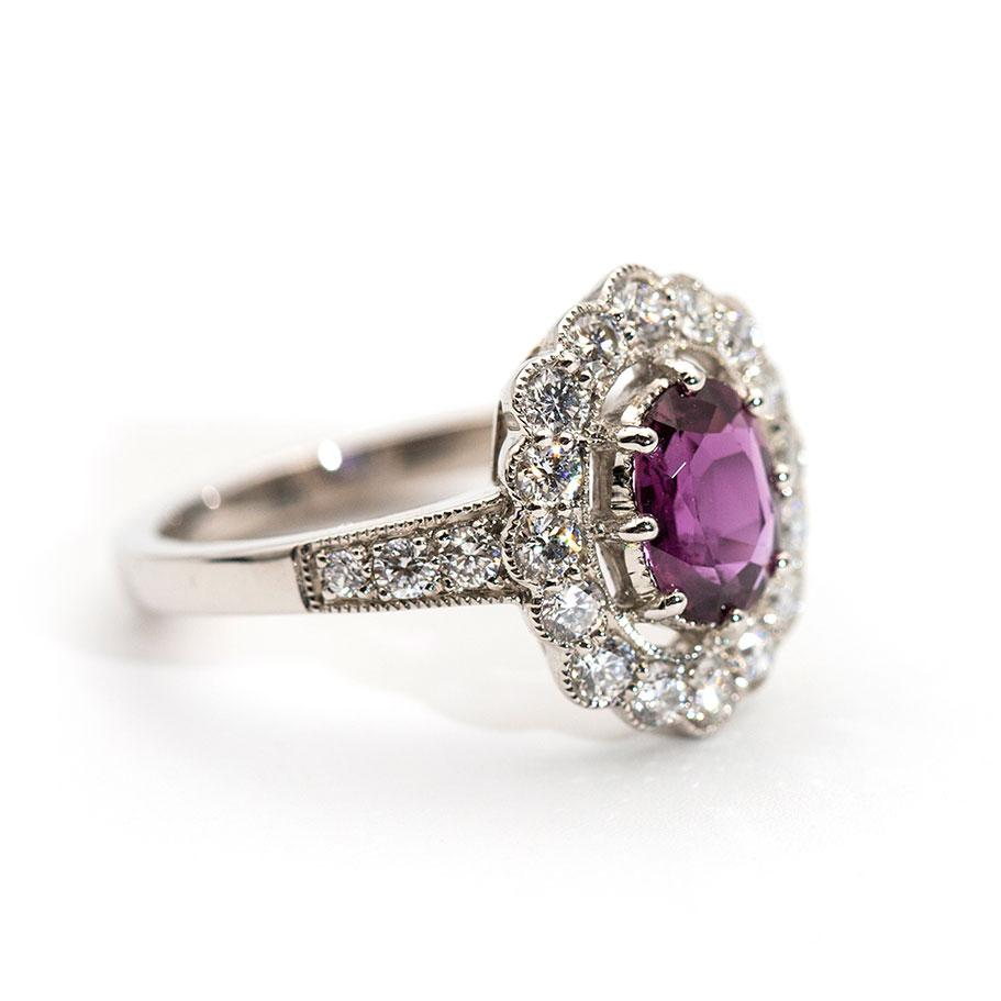 Melissa Ruby and Diamond Vintage Ring