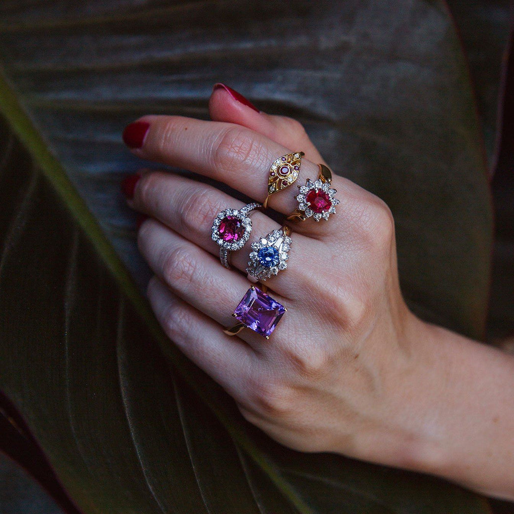 Ruth Vintage Ruby & Diamonds Ring