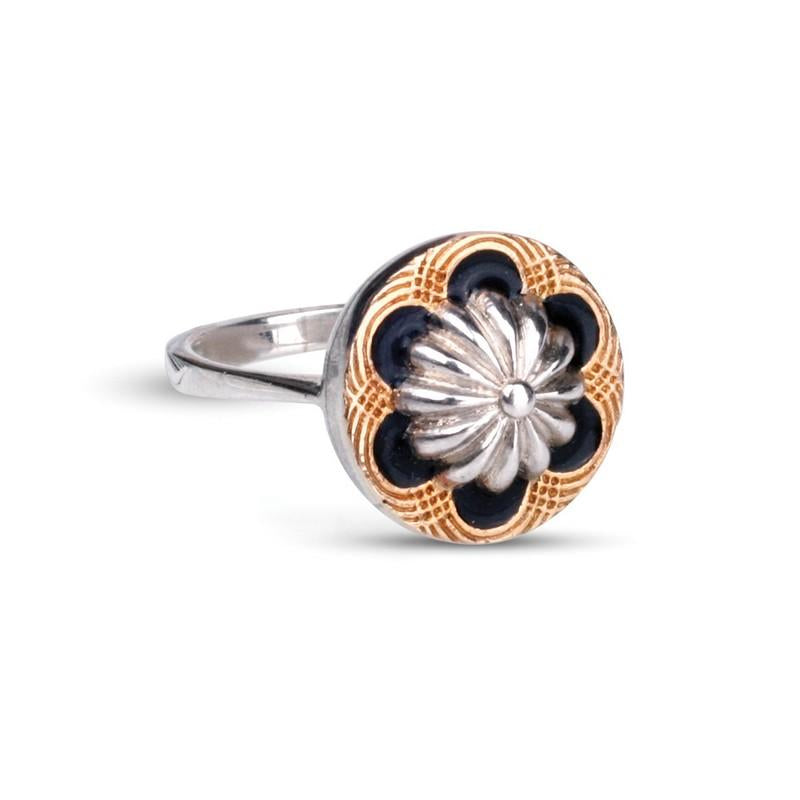 Miss Maud Sterling Silver & 18ct Gold Ring