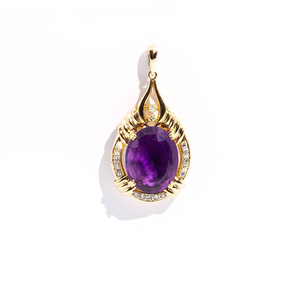 Sloane Amethyst and Diamond Pendant