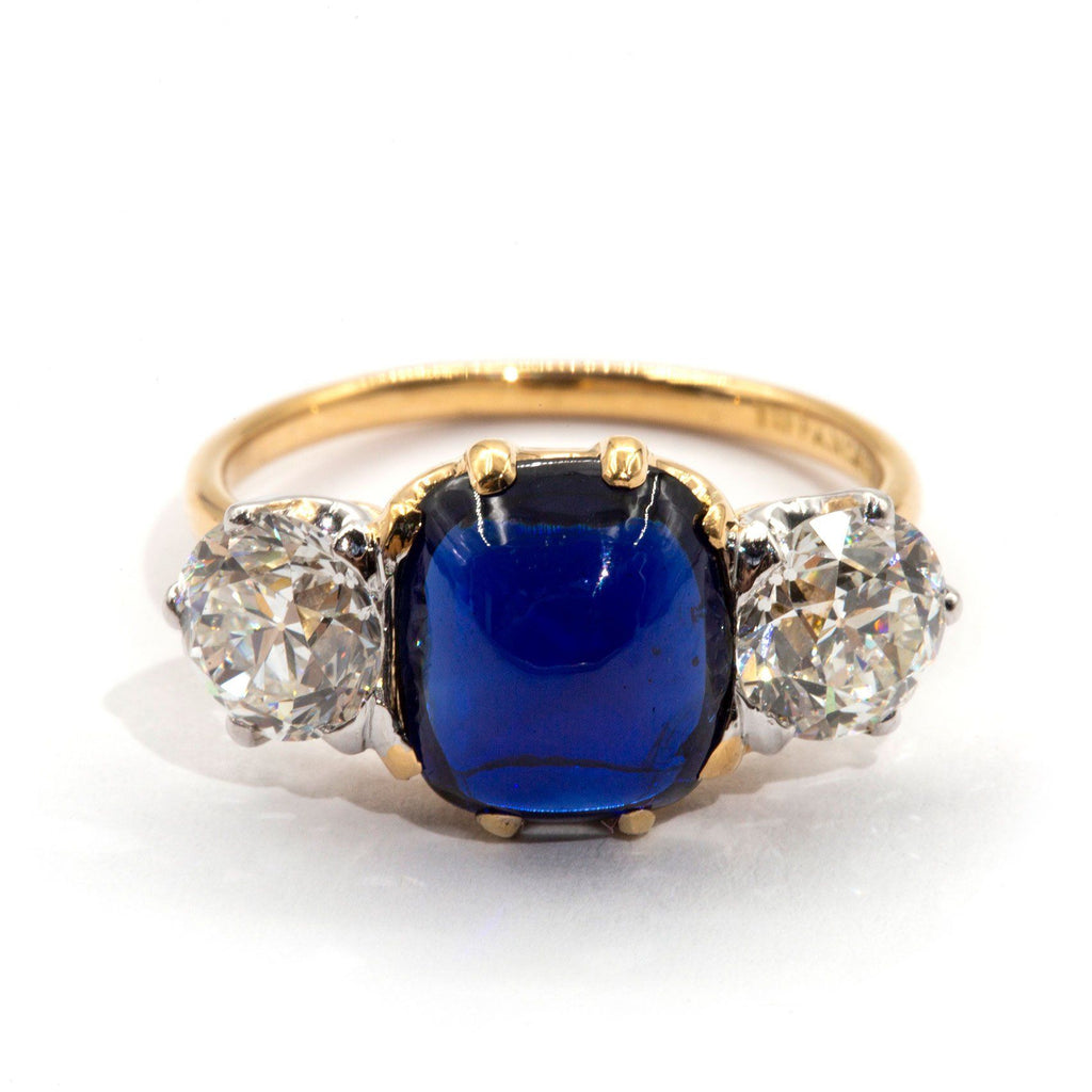 Tiffany-and-co-antique-sapphire-diamond-ring-ij-0121-438 Rings Imperial Jewellery - Auctions, Antique, Vintage & Estate