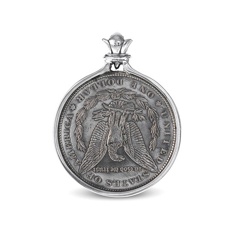 US Hobo Morgan Dollar Sterling Silver Pendant