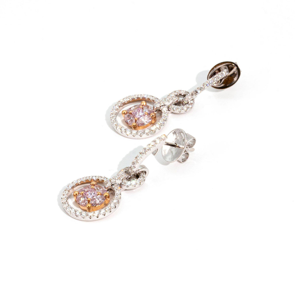 Verina Pink Diamond Earrings