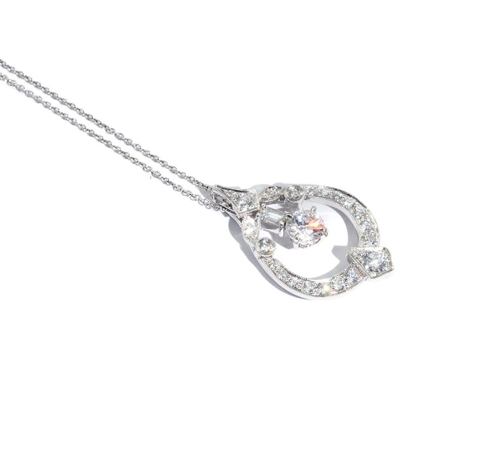Vintage-1-Carat-Diamond-Pendant-Erika-IJ-0321-485 Imperial Jewellery - Auctions, Antique, Vintage & Estate