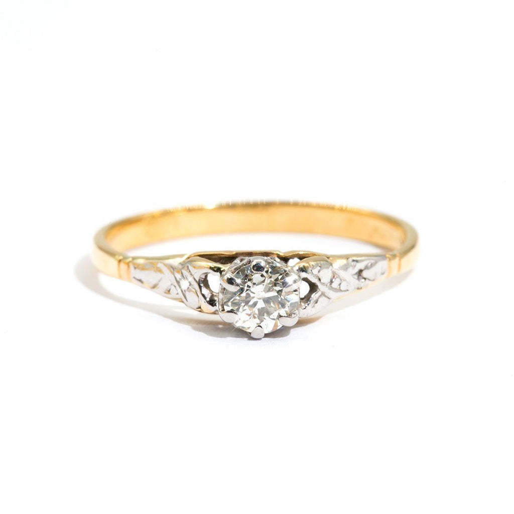 Vintage-Diamond-Solitaire-Ring-Rebekah-IJ-0321-470 Imperial Jewellery - Auctions, Antique, Vintage & Estate