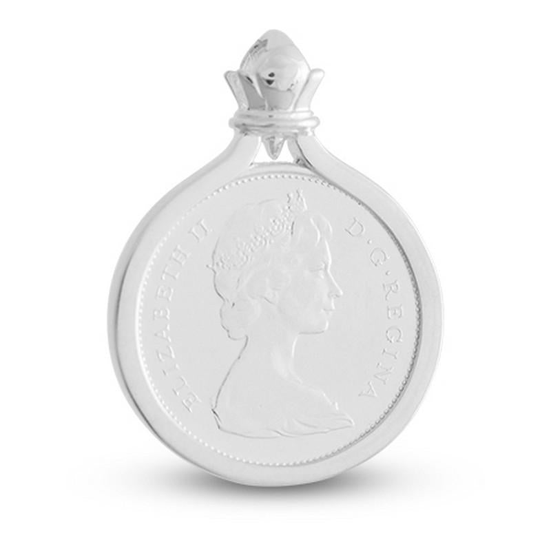 Canada 25 Cent Caribou Sterling Silver Coin Pendant