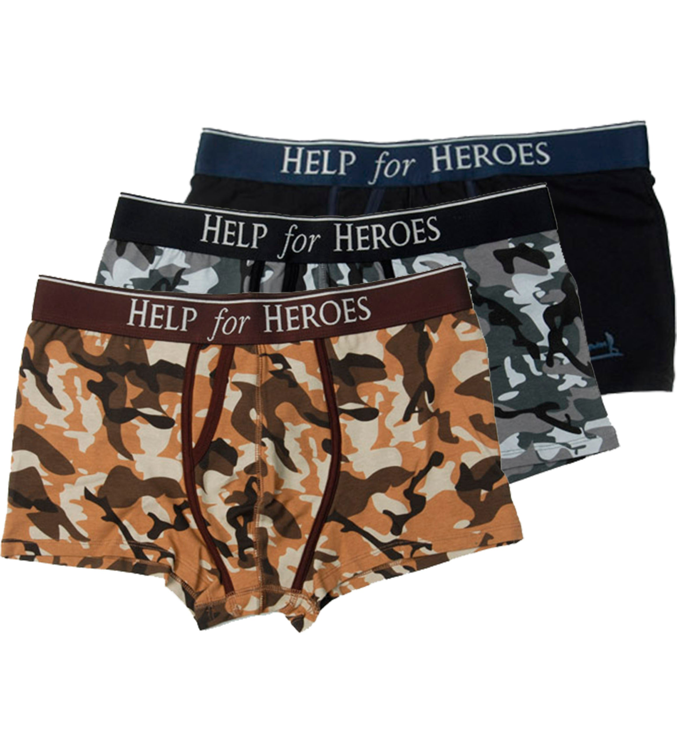 Help for Heroes Trunks 3pk